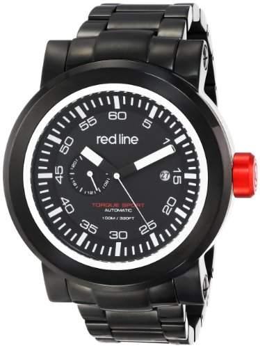 Red Line Torque Sport Herren 50mm Automatikwerk Mineral Glas Uhr 50046-BB-11SL