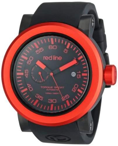 Red Line Torque Sport Herren 50mm Automatikwerk Uhr 50046-BB-RD-01-BKST