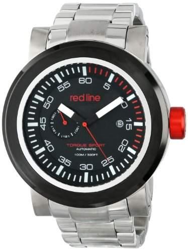 Red Line Torque Sport Herren-Armbanduhr 50mm Armband Edelstahl + Gehaeuse Automatik Datum 50046-BB-SS-11