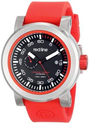 Red Line Torque Sport Herren 50mm Automatikwerk Mineral Glas Uhr 50047-01RD-RDST