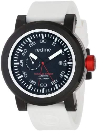 Red Line Torque Sport Herren 50mm Automatikwerk Datum Uhr 50047-BB-01-WHST
