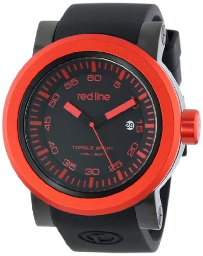 red line Herren RL-50049-BB-01-RDB Torque Sport Black Dial Silicone Band Armbanduhr