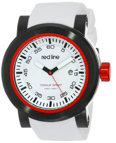 red line Herren RL-50049-BB-02 Torque Sport White Dial Silicone Band Armbanduhr