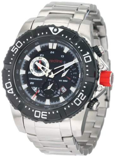 Red Line Racer Mens Silver Stainless Steel Date Chronograph Watch RL-90008-BB-11