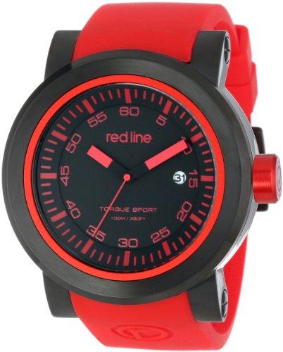 RED LINE TOURQUE HERREN 50MM KAUTSCHUK ARMBAND MINERAL GLAS UHR 50049 BB 01 RDAS
