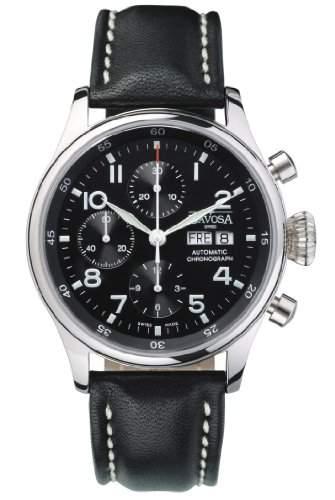 Davosa Pilot Herren-Chronograph Armbanduhr 16100456mit Valjoux Automatik Bewegung, Tag, Datum Funktion und grosse Krone