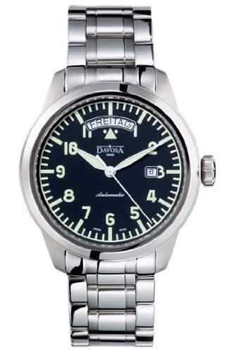 Davosa-16143150-Zeigt Herren-Automatische-Analog-Armband Edelstahl Silber