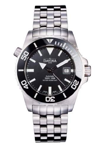 Davosa Herren-Armbanduhr Analog Edelstahl schwarz 16149820
