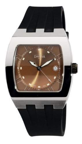 Davosa Herren-Armbanduhr Analog Edelstahl braun 16242265