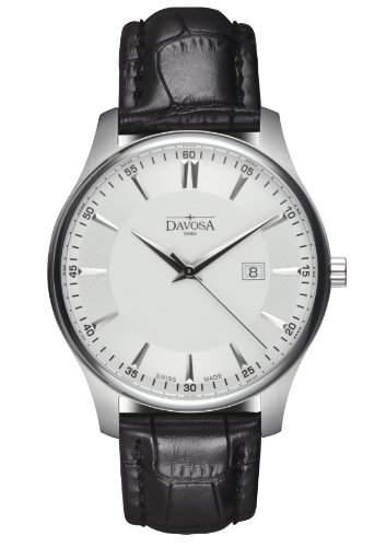 Davosa Herren-Armbanduhr Analog Edelstahl weiss 16246615