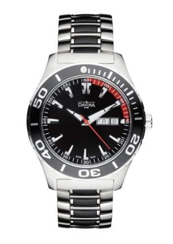 Davosa Herren-Armbanduhr Analog Edelstahl schwarz 16346550