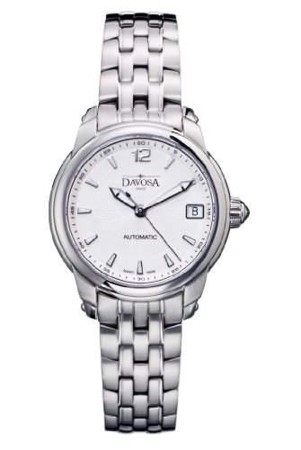 Davosa Damen-Armbanduhr Analog Automatik Uhr silbernes Zifferblatt Analog-Anzeige und Silber-Edelstahl-Armband 16618310