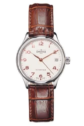 Davosa Damen-Armbanduhr Classic Automatic Analog Automatik Leder Braun 16618866