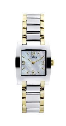 Davosa Dreamline Tonneau Women- Armbanduhr Pearl Dial Analog-Anzeige und Silber-Edelstahl-Armband 16856184