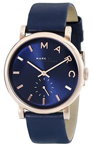 Marc By Marc Jacobs Damen mbm1329 Baker Edelstahl Uhr mit Blau Leder Band