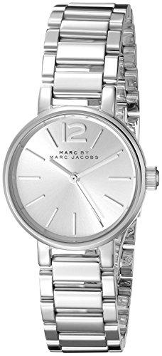 Marc Jacobs Steel Bracelet Case silberfarbenes Dial Analog Quarz mbm3404