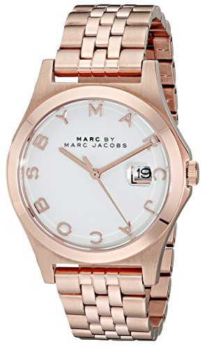 MARC BY MARC JACOBS Womens Rose Gold Tone Bracelet Watch MBM3392