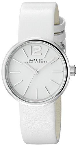 Marc By Marc Jacobs Damen mbm1367 Analog Display Analog Quarz Weiss Armbanduhr