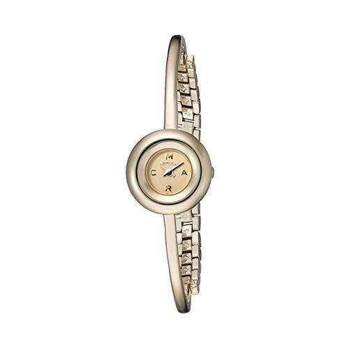 Marc Jacobs Damen-Armbanduhr Armband Goldfarbenes Edelstahl + Gehaeuse Quarz Analog MBM3434