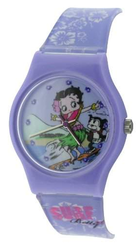 Betty Boop Damen-Armbanduhr Analog Plastik mehrfarbig BTY14B