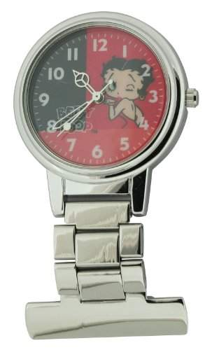 Betty Boop Damen-Armbanduhr Analog Formgehaeuse rot BTY18B