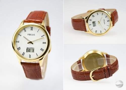 Elegante Herren Funk Armbanduhr JUNGHANS-WERK Edelstahl Leder Gold 9644702