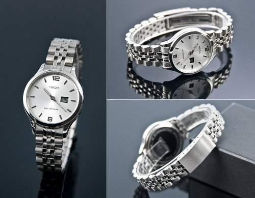 Damen Funk Armbanduhr Junghans-Werk Gehaeuse und Armband aus Edelstahl, Funkuhr, 964479079