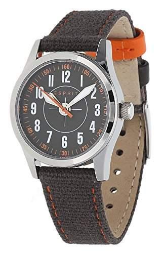 Esprit Unisex-Kinder Armbanduhr Amazing Overflight braun ES103444004
