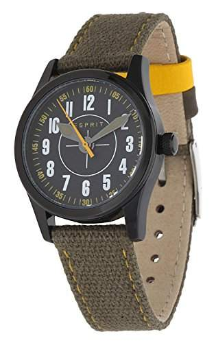 Esprit Unisex-Kinder Armbanduhr Amazing Overflight Khaki ES103444005