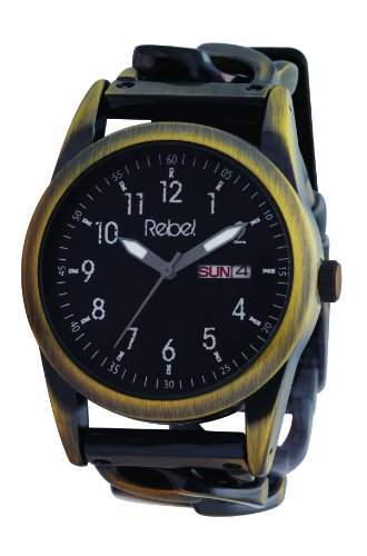 Rebel Herren-Armbanduhr Analog Formgehaeuse schwarz REB1001