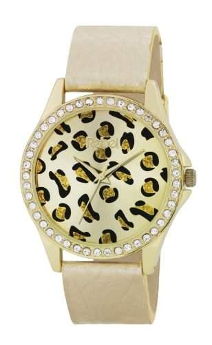 Rebel Damen-Armbanduhr Analog Quarz Kunststoff gold REB2020