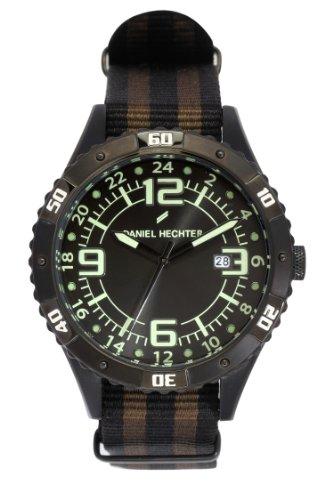 Daniel Hechter Herren Armbanduhr Analog Quarz Textil DHH 002 3AZ