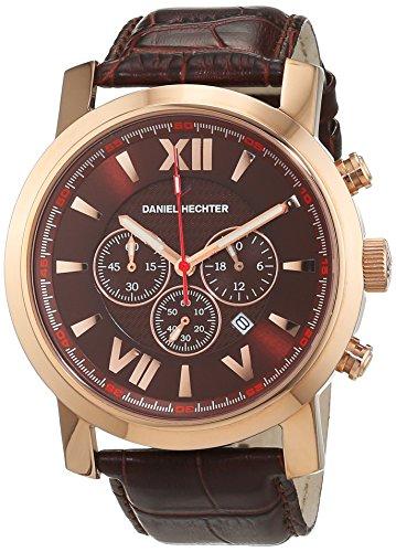 Daniel Hechter Herren Armbanduhr Analog Quarz Leder DH02421R