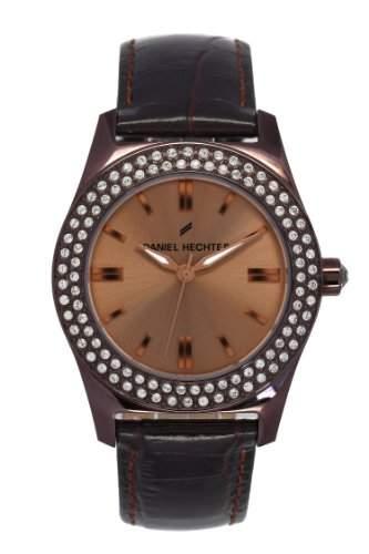 Daniel Hechter - 003S5UU DHD Damen-Armbanduhr Lolla Quarz analog Leder Braun