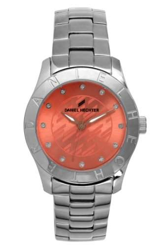 Daniel Hechter DHDEM - 004 Damen-Armbanduhr Alyce Quarz analog Armband Stahl silberfarben
