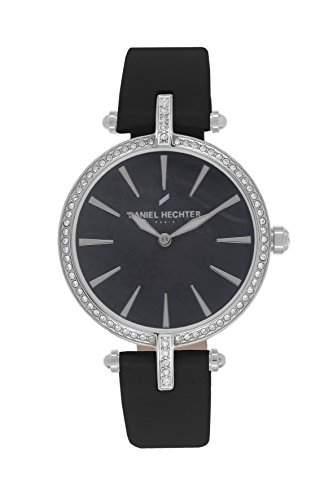 Daniel Hechter DHD 010SAA-Damen-Armbanduhr Lolla Quarz analog Leder Schwarz