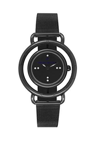 Daniel Hechter DHD011-3AM Damen-Armbanduhr Alyce Quarz analog Stahl vergoldet, schwarz