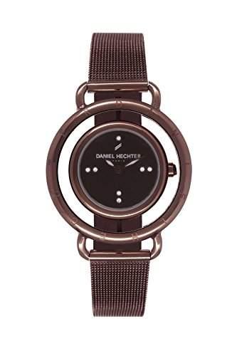Daniel Hechter DHD011-5UM Damen-Armbanduhr Alyce Quarz analog Armband Stahl vergoldet, braun