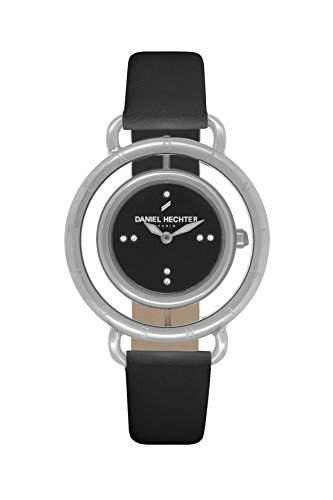 Daniel Hechter DHDAA - 011 Damen-Armbanduhr Lolla Quarz analog Leder Schwarz