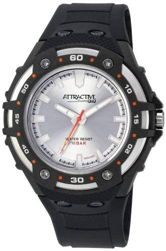 Q&Q Attractive Herren Uhr DD02J002 schwarz Analog