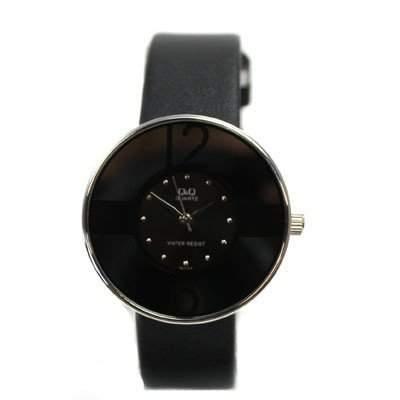 Q&Q Damen-Armbanduhr Analog Quarz Leder GL77-312Y