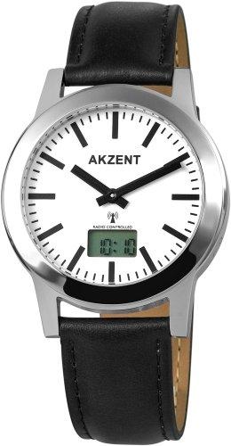 Akzent Herren Armbanduhr Funkuhr Quarzwerk 301322029002