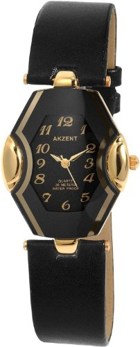 Akzent Damen Uhren mit Polyurethan Lederband SS7301000015