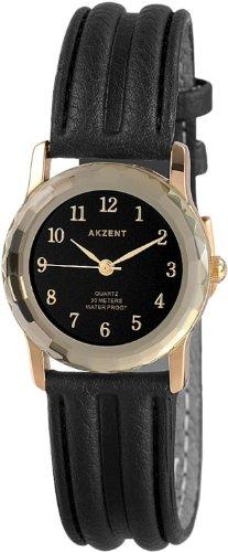 Akzent Damen Uhren mit Polyurethan Lederband SS7301400013