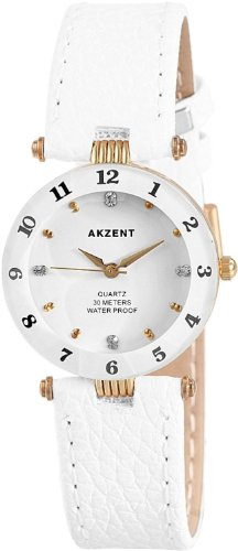 Akzent Damen Uhren mit Polyurethan Lederband SS7302000014