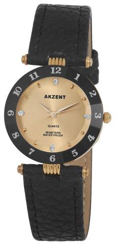 Akzent Damen Uhren mit Polyurethan Lederband SS7304100014