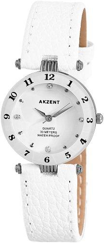 Akzent Damen Uhren mit Polyurethan Lederband SS7322000014