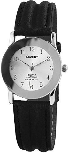 Akzent Armanduhr 30mm Silber Schwarz SS7322500023