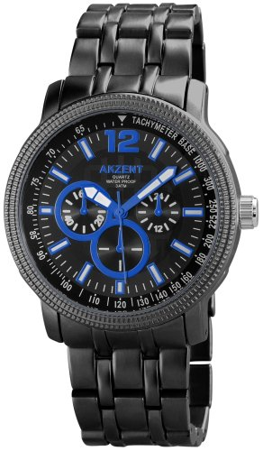 Akzent Herren Armbanduhr XL Analog Quarz verschiedene Materialien ss8841000006