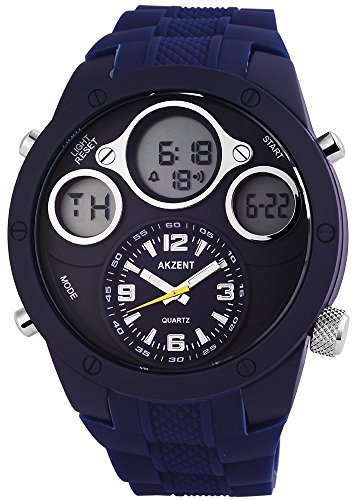 Armbanduhr Silikonarmband 24cm Dornschliesse Dunkelblau SS9093000001